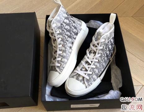 Dior Kaws high帆布鞋开箱评测 dior oblique高帮帆布鞋怎么样