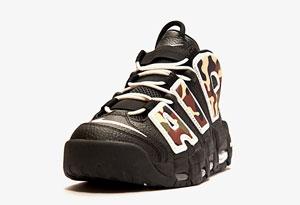大AIR黑迷彩发售信息 Nike Air More Uptempo 96黑迷彩实物赏析