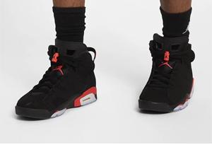 "2019 Air Jordan 6 ""Black Infrared"" 入手难度大吗 2019 AJ6 ""黑红""什么时候能买"