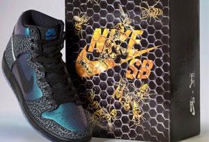 """耐克dunk SB全明星配色礼盒发售信息 Black Sheep x Nike SB Dunk High""""Black Hornet""""实物细节赏析"""