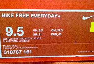 耐克鞋盒上GS、BS、PE和EP什么意思 鞋盒标识科普大盘点