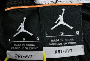 AJ短裤怎么鉴别真假 AJ篮球短裤真假对比图