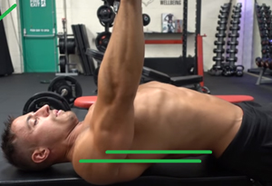 卧推怎么用胸肌发力 胸肌锻炼正确姿势图示