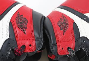 AJ1高仿黑红脚趾怎么看出来 AJ1黑红脚趾高仿和真货对比图