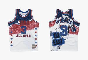 Mitchell Ness 2019 NBA全明星复古球衣发售 Mitchell Ness 2019 NBA全明星复古球衣实物图