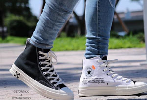 OFF-WHIRE x Converse 2.0颜值高吗 OFF-WHIRE x Converse 2.0上脚图