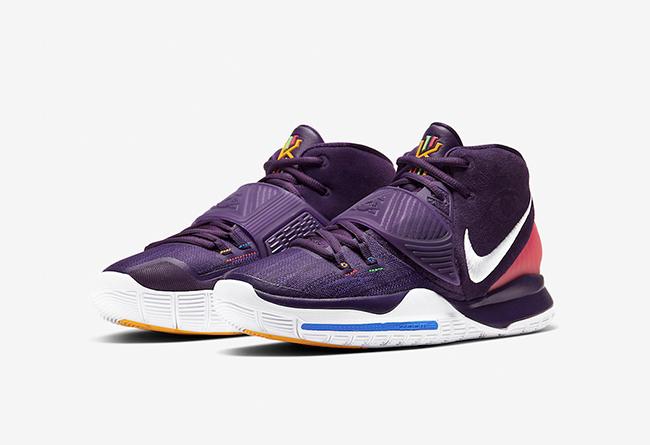 Kyrie6全新配色11月30日发售 紫色鞋身 + 粉色后跟