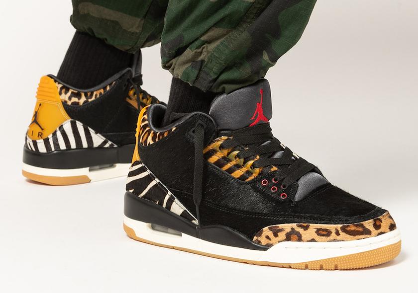 "Air Jordan 3 ""Animal""上脚美照及发售时间"