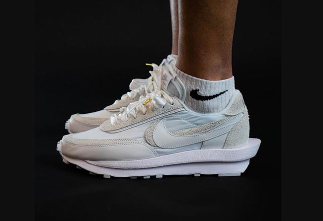 纯白sacai x Nike LDV Waffle上脚谍照