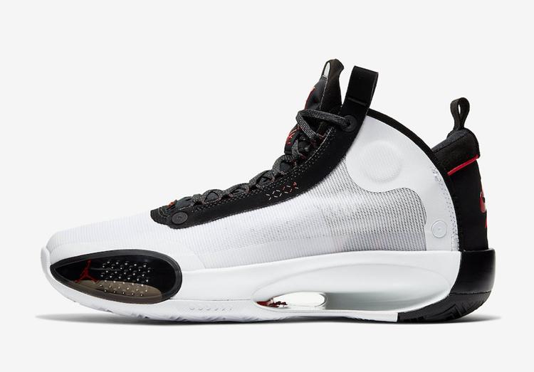 Air Jordan 34 SE谍照 侧边拉链 + 黑红配色!