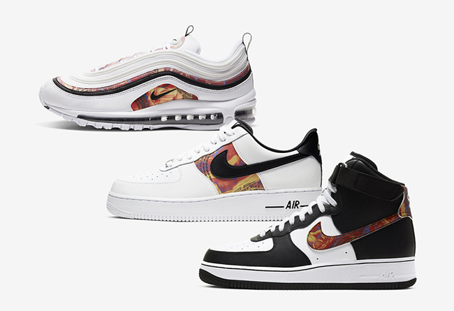 三双Nike经典球鞋全新炫彩图案谍照