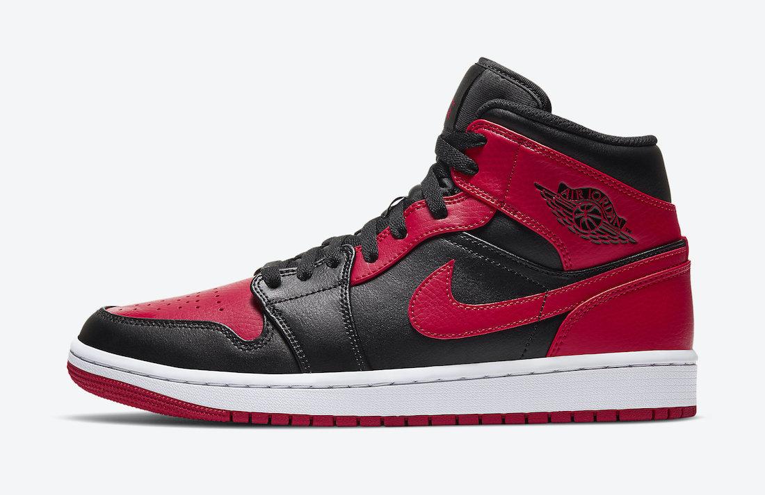 "Air Jordan 1 Mid ""Bred""发售日期及价格"