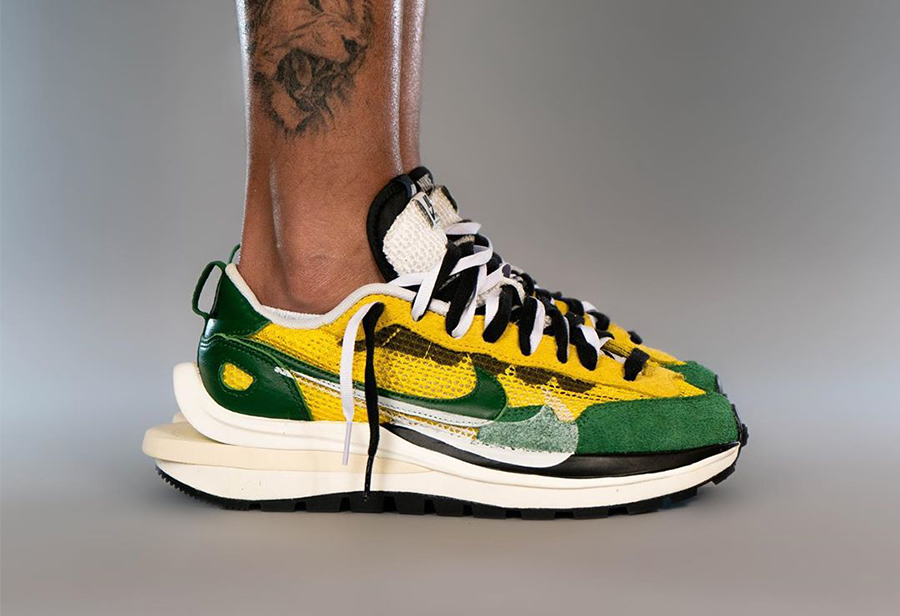 "sacai x Nike VaporWaffle ""Tour Yellow""发售日期"