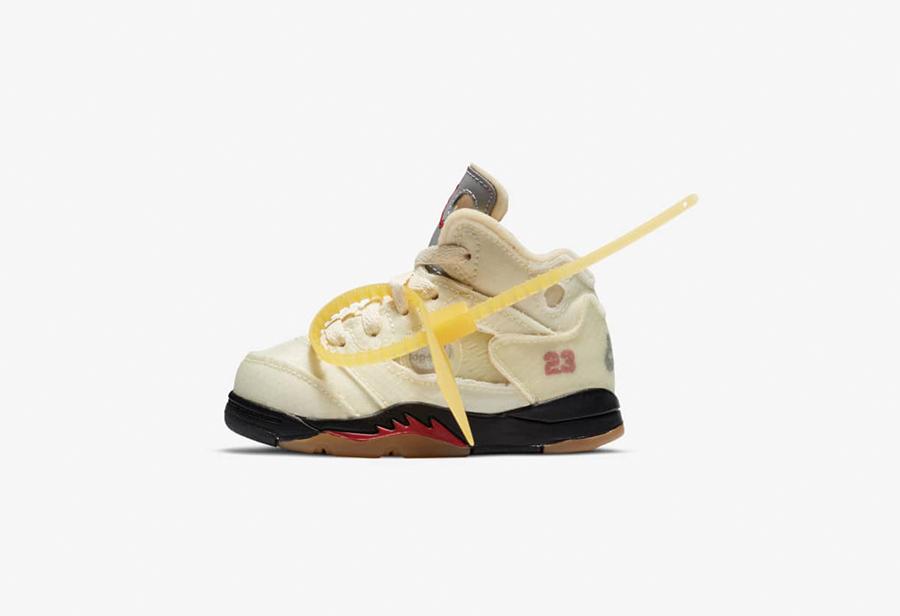 """OFF-WHITE x Air Jordan 5 """"Sail""""10月29发售"""