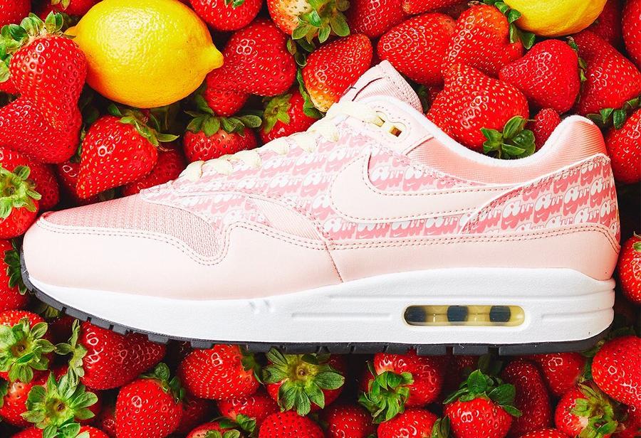 "Nike Air Max 1 ""Strawberry Lemonade""美图"