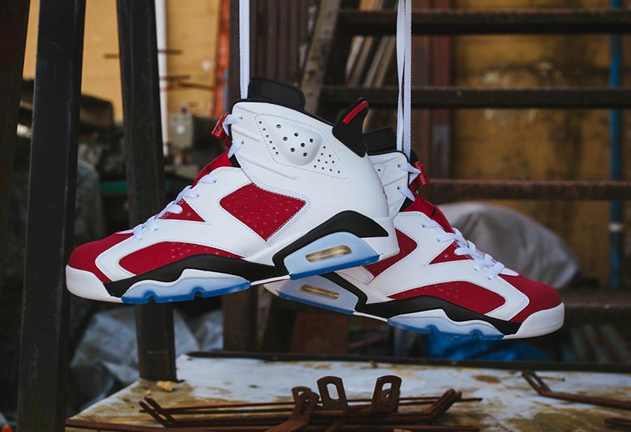 "Air Jordan 6 ""Carmine""发售日期"