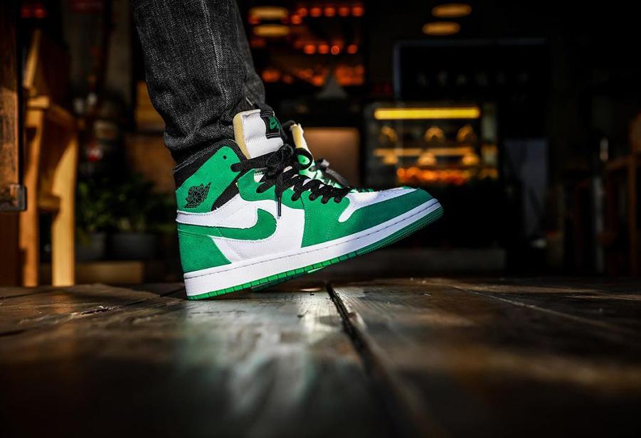 "Air Jordan 1 Zoom CMFT ""Stadium Green""上脚图"